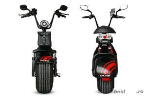 BEMI Harley eFlux Scooter 1000 Watt 60 Volt 12AH Omologat UE - imagine 1