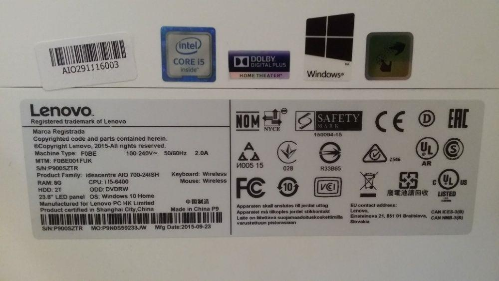 Lenovo All In One 23.8 inchi - imagine 3