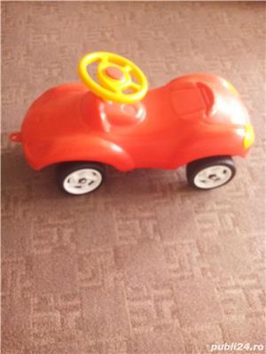 Masinuta de impins Porsche rosie+Masinuta Gunoi Cu Pompa De Aer  - imagine 3