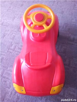 Masinuta de impins Porsche rosie+Masinuta Gunoi Cu Pompa De Aer  - imagine 1