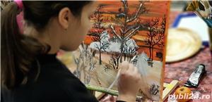 Pictură globuri curs 3 ore/ tablouri pe pânză la sevalet,  oua de paști, icoane  - imagine 2