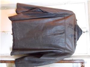 la pret rewdus,Haina barbateasca din piele naturala maro,marca MUSTANG,48/l, si ramburs - imagine 4