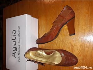 Pantofi piele naturala,noi - imagine 2