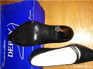 Pantofi piele naturala,noi - imagine 1