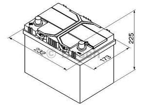 BATERIE ASIA BOSCH 60AH 540A S4 025 +ST, acumulatori auto in Otopeni - imagine 2