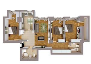 Apartament 4 camere  - imagine 4