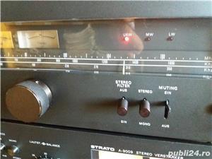 Amplificator  Strato 9009+tuner Strator 7090  Vu metre cu ace  - imagine 9