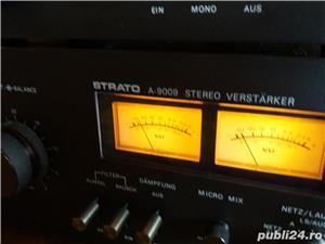 Amplificator  Strato 9009+tuner Strator 7090  Vu metre cu ace  - imagine 3