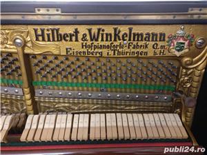 Pianina Hilbert Winkelmann placa bronz Germania - imagine 4