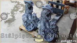 Statueta fetita cu iepurasi din beton model S8. - imagine 3