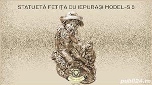 Statueta fetita cu iepurasi din beton model S8. - imagine 1