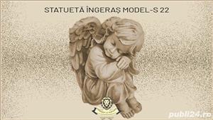 Statueta ingeras adormit din beton model S22. - imagine 1