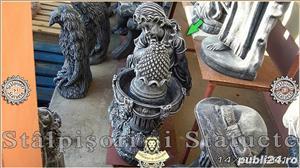 Statueta fetita cu catelus din beton model F4. - imagine 4