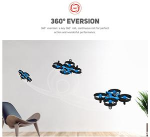 Drona JJRC H36 cu telecomanda,elicopter,avion copii 14+,joc. Nou in cutie - imagine 7