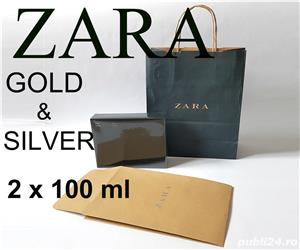 Parfum Zara Man Gold & Silver set 2 x 100 ml 100% Original - imagine 1