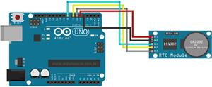 Modul ceas real RTC DS1302 Real Time Clock Module, AVR ARM + baterie - imagine 2