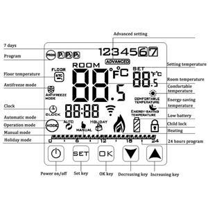 Incalzirea pardoseala cu termostat Inteligent digital Touch - imagine 8