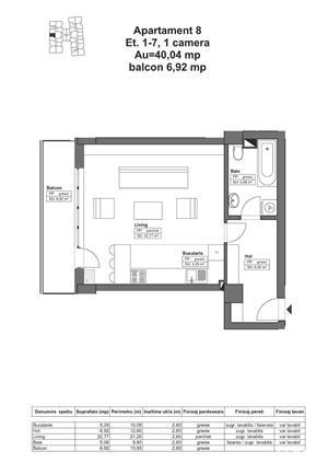 DE VÂNZARE: Apartament 46.96 mp - 51.700€, complex HIMSON IASI - imagine 3