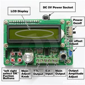 Generator semnal 0.01Hz-5MHz, DDS, Sine Square Triangle, sinus digital - imagine 1