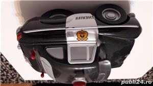 Colectie Disdey/Pixar,masina Sheriff,plastic rezistent,gri inchis, - imagine 2