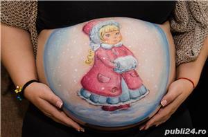 Pictură pe burtici de gravide - imagine 5