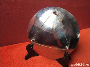 cadou inedit-Vintage plate Toledo Gold on Steel- Acvila Imperiala Bicefala  - imagine 6
