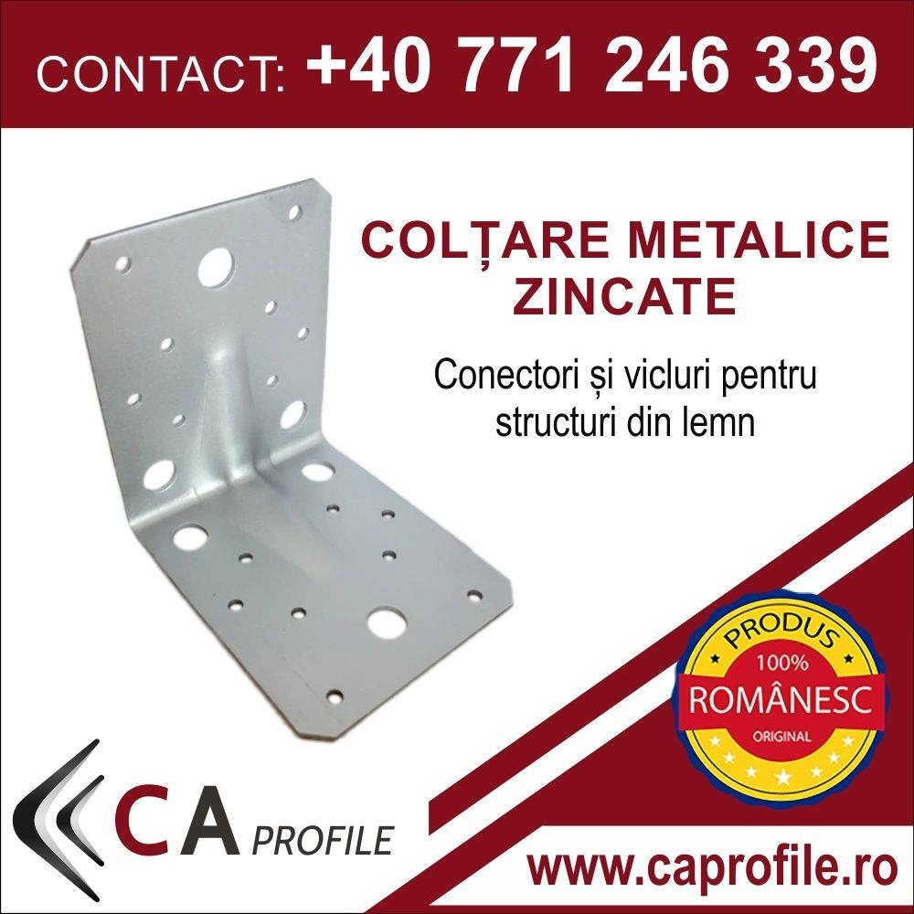 COLTARE METALICE ZINCATE - 90x90x65x2mm - imagine 1