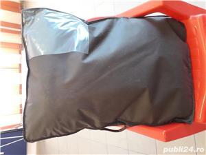 Pătură vară din merinos australian si satin - imagine 3