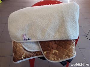 Pătură vară din merinos australian si satin - imagine 2