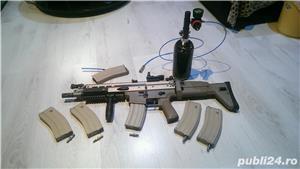 carabina  Airsoft SCAR Lde la WE gas blow back - imagine 4