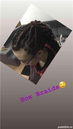 Box Braids si dreduri semi - imagine 1