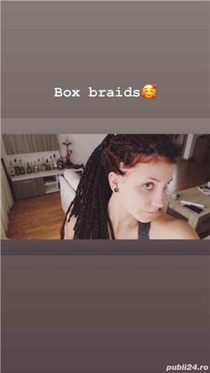 Box Braids si dreduri semi - imagine 2
