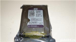 Hard-disk WD 5 TB-Purple NOU-sigilat Sata3 64MB 100% health L168 - imagine 1