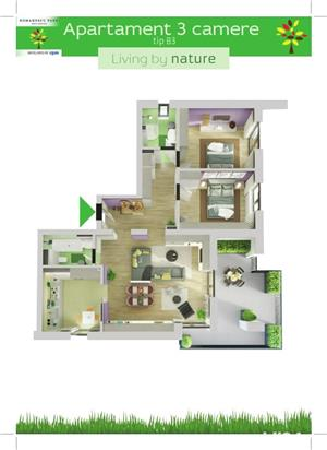 Apartament 3 camere - Romanescu Park Residence - imagine 2