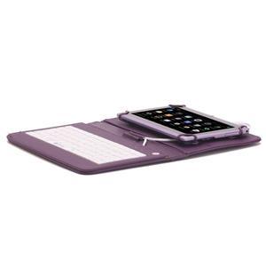 Husa Tableta 9 Inch Cu Tastatura Micro Usb Model X , Mov C16 - imagine 1