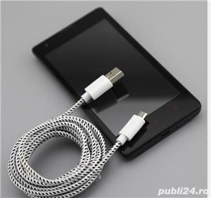 Cablu Date si Incarcare Micro Usb  Cablu Panza Culoare Alb pt Telefon C32 - imagine 9