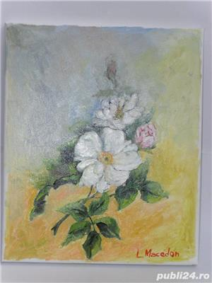 Pictura ulei pe panza;dimensiune 24cm/29 cm; - imagine 4