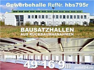 Vând hală metalică 795m2 demontabilă, cu etaj, second hand, demontare în germania - imagine 8