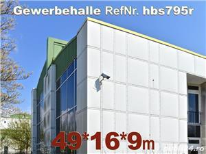 Vând hală metalică 795m2 demontabilă, cu etaj, second hand, demontare în germania - imagine 3