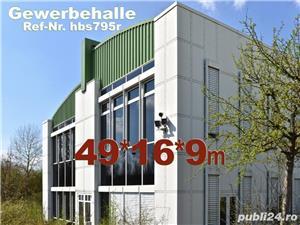 Vând hală metalică 795m2 demontabilă, cu etaj, second hand, demontare în germania - imagine 2