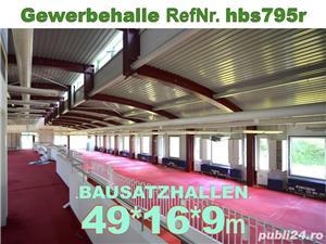 Vând hală metalică 795m2 demontabilă, cu etaj, second hand, demontare în germania - imagine 6