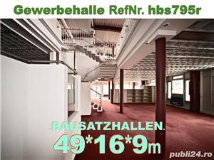 Vând hală metalică 795m2 demontabilă, cu etaj, second hand, demontare în germania - imagine 5
