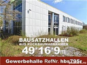 Vând hală metalică 795m2 demontabilă, cu etaj, second hand, demontare în germania - imagine 4