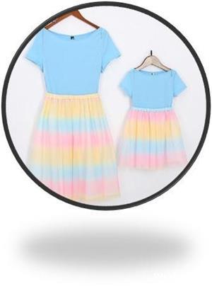 Vand set rochite mama /fiica, mama marimea S/ fiica marimea 110, noi cu eticheta  - imagine 1