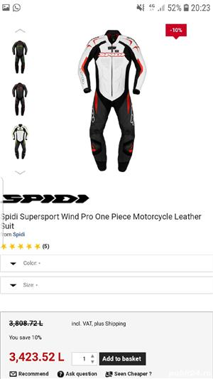 Combinezon moto Spidi Wind Pro One- nou! Costum piele - imagine 5