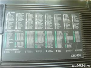 Orga electronica Casio CTK 750 5 octave, clape normale - imagine 4