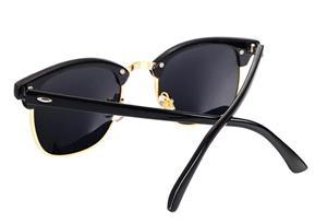 Ochelari de soare Polarizati Clubmaster Rama neagra Lentile negre - imagine 3