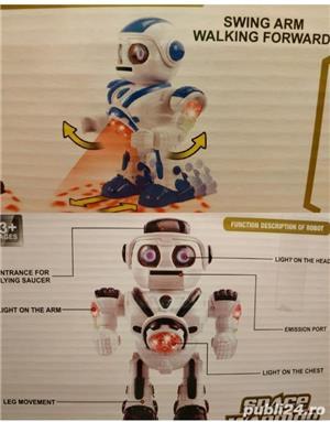 Robot NOU Space Warrior, sunete, lumini si miscare - imagine 4