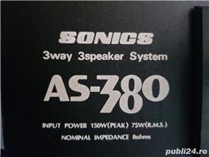 Boxe Vintage Ultra Rare! : Sonics AS-380 - 700 Ron Fix!  - imagine 5
