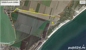 Teren plaja Colf Corbu de 1100 mp - imagine 1